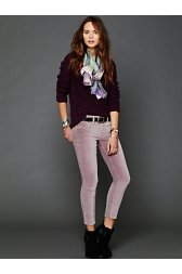 5 Pocket Velvet Skinnies
