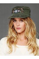 Studded Military Cap
