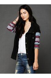 Baja Stripe Sleeve Jacket