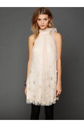 Tulle Paillette Sleeveless Dress
