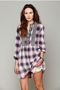Artisan De Luxe Freeport Plaid Shirtdress at Free People
