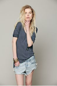 Retro Stripe Three Quarter Sleeve Top at Free People