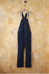 Vintage Dark Blue Denim Overalls at Free People