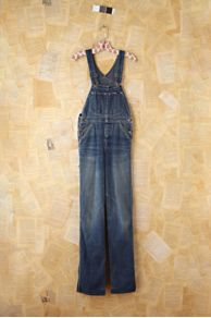 Vintage Lee Dark Blue Denim Overalls at Free People