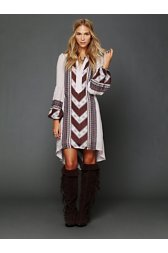 Peacemaker Print Shapeless Dress