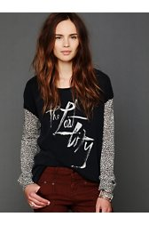 We The Free Loves Leopard Graphic Tee