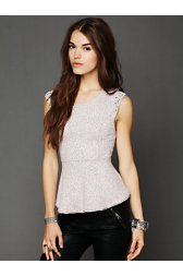 Awaken Shimmer Peplum Top