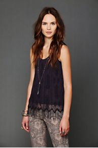 Beaded Fringe Flapper Tank at Free People