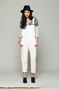 Straight Eyelet Overall at Free People
