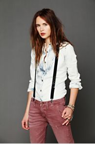 Blake Studded Suspenders at Free People