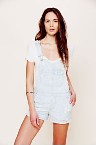 Cross Over Distressed Overall at Free People
