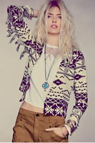 Maison Scotch Ikat On The Fringe Jacket at Free People