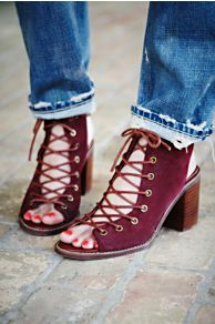 Jeffrey Campbell + Free People Minimal Lace Up Heel at Free People