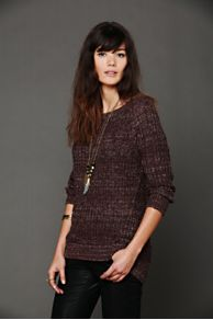 Open Neck Sweater Tunic at Free People