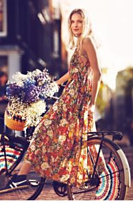 FP ONE Criss Cross Florals Maxi Dress at Free People