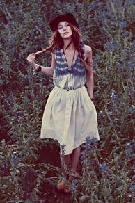 Levi's Skies of Blue Buttondown Skirt at Free People