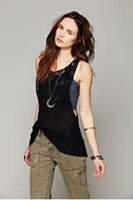 Mixed Lace Drop Tank at Free People