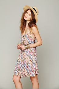 FP ONE Imperial Palm Pintuck Dress at Free People