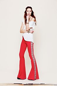 One Teaspoon  Aztec Stripe Ziggy Super Flares at Free People