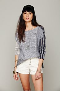 Mixed Stripe Pullover at Free People