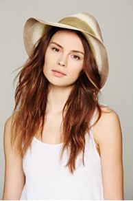 Ombre Straw Panama Hat at Free People