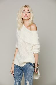 Meg's Wool Cowl Neck Sweater at Free People