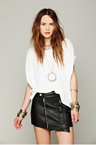 Ladakh Biker Wrap Mini Skirt at Free People