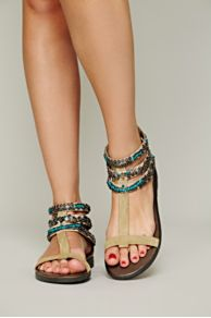 Sahara Beaded Sandal at Free People