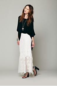 Festival Battenburg Lace Skirt at Free People