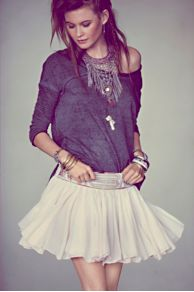 Embellished Mini Skirt at Free People