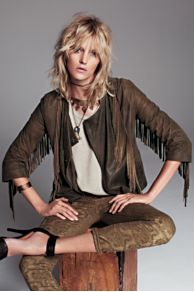 Cleobella Fringe Leather Jacket at Free People