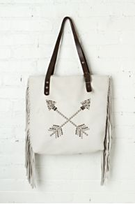 Mcfadin Arrow Fringe Tote at Free People