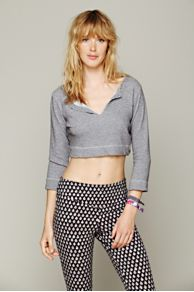 Solow Sport French Terry Cropped Pullover at Free People