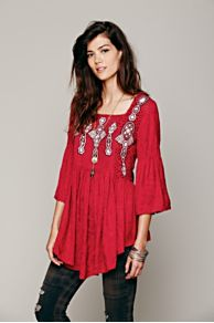 Embroidered In Jacquard Top at Free People