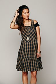 Edie Plaid Swing Dress at Free People