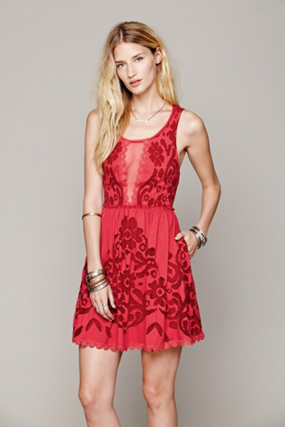 Free People Womens Love Letters Burnout Dress