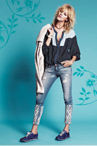 Artisan De Luxe Dreamer Embroidered Skinny at Free People