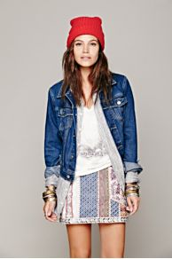 Gemma Embroidered Patched Mini at Free People