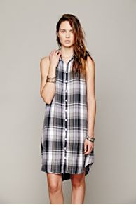 CP Shades Sleeveless Plaid Tunic at Free People