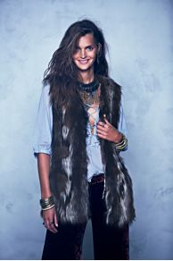 Swagger Fur Vest at Free People