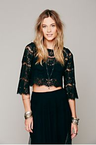 Sing A Lacey Tune Crop Top at Free People
