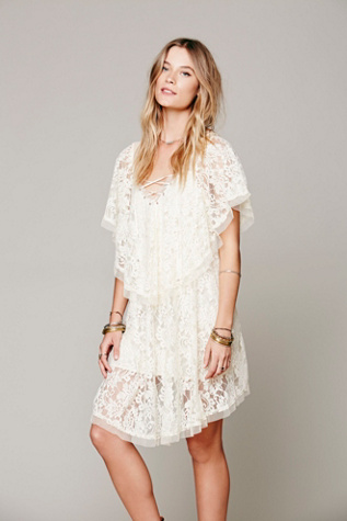 Free People Womens Hill Country Lace Up Dress