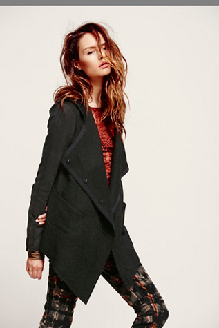 Free People Womens Drippy Wool Jacket