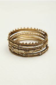 Crystal Hard Bracelet Set at Free People