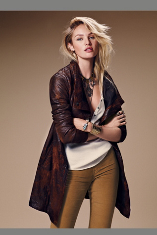 Gimo's Italiana Womens Distressed Leather Jacket