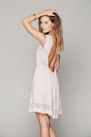 Free People Womens Diana Open Back Dress