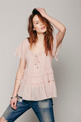 Free People Womens Athena Tiered Top