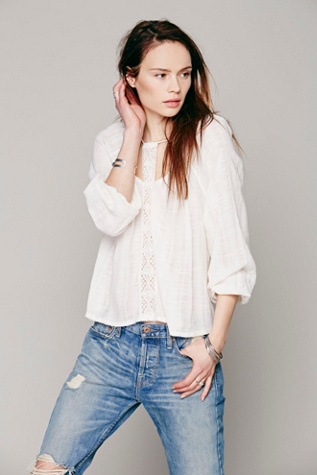 Free People Womens Dear Marie Top