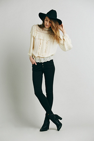 Free People Womens Seamed Ponte Skinny