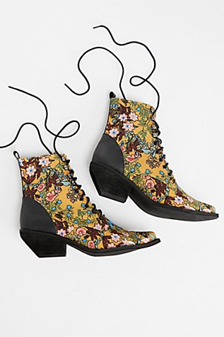 Grove Lace-Up Western Boot at Free People in Los Angeles, CA | Tuggl